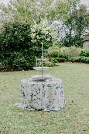 Blue Flowered Tablecloth