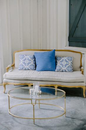 Large Blue Pillows