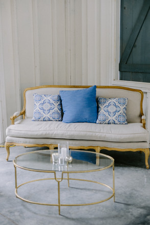 Large Blue Pillows