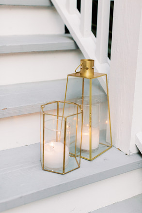 Small Gold and Glass Lanterns