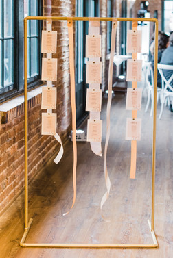 Hanging Ribbon Boho Escort Wall