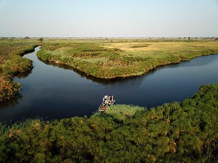 Nqoga and Jao channels of the Okavango Delta