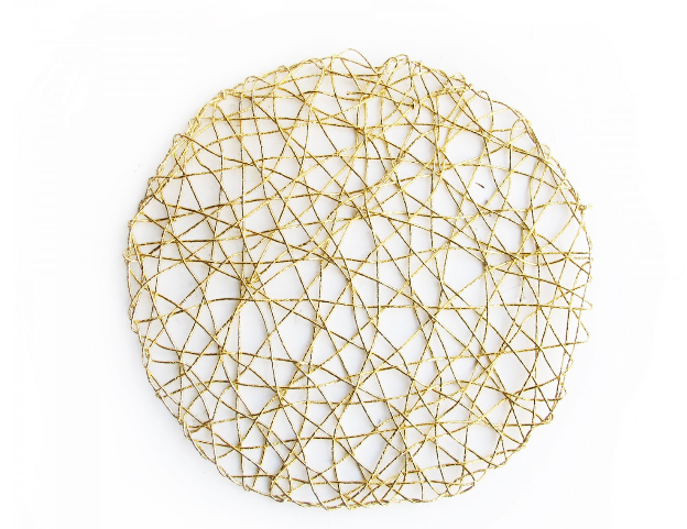 Gold Woven Charger