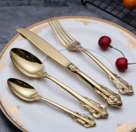 Luxe 24 Carat Gold Plated Flatware