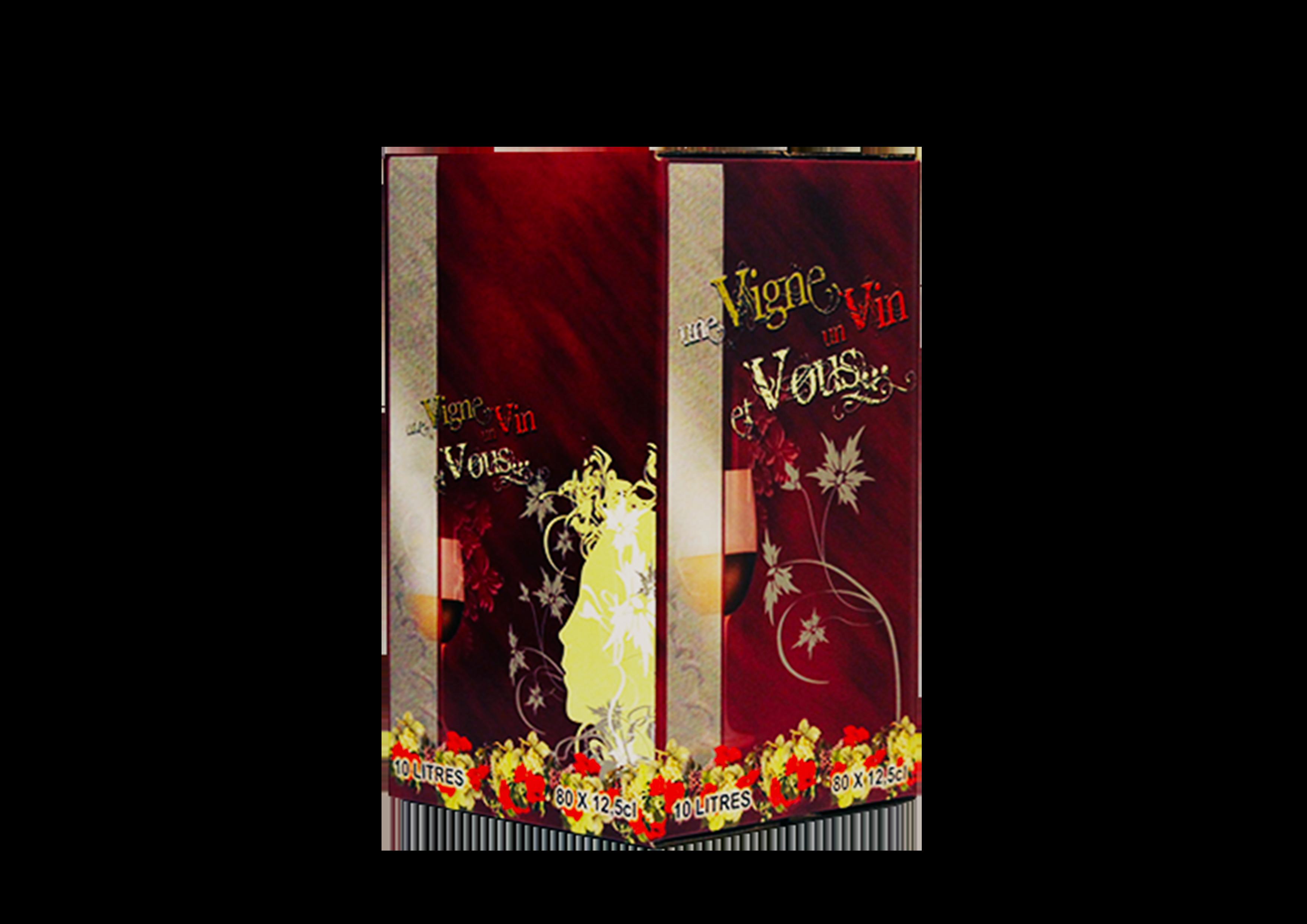 Vin vigne et vous rouge 10 L