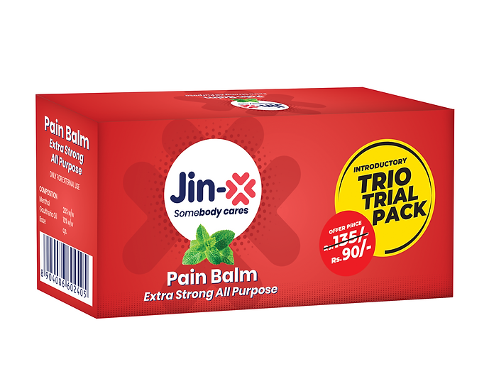 Jin-X Extra Strong Pain Balm 10gm (Trio Pack 3 pic Set)