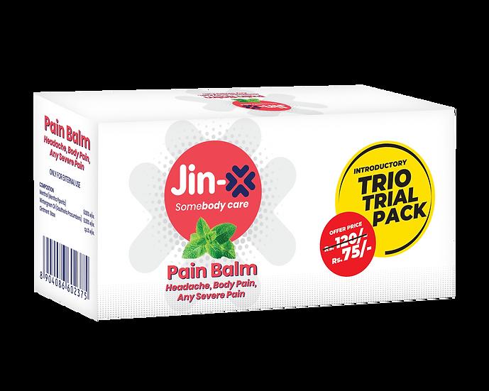 Jin-X Headache, Body Pain Balm 10gm  (Trio Pack 3 pic set)