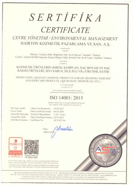 Çevre Yönetimi ISO 14001