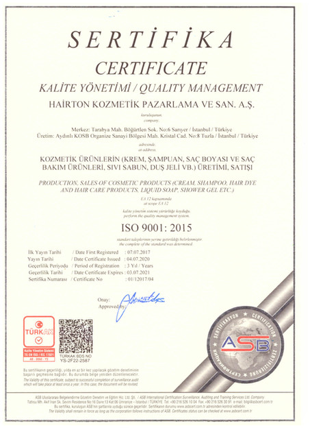 Kalite Yönetimi ISO 9001