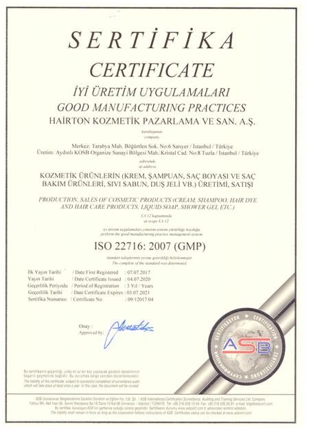 İyi Üretim Uygulamaları ISO 22716