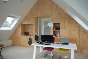 Ontwerp living-werkplek zolder