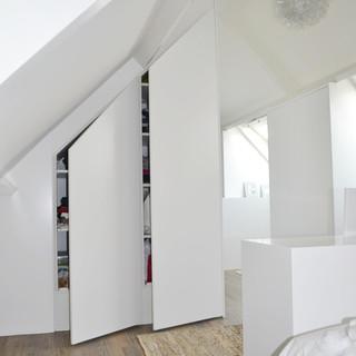 Ontwerp verbouw en interieur slaap-badkamer, Haarsteeg