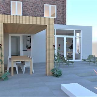 Ontwerp uitbreiding en interieur jaren '30 woning, Deventer