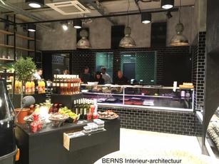 Ontwerp eigentijdse traiteurwinkel RAUW, Arnhem