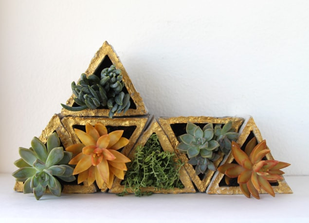 Modular Geometric Tiny Pots Small Plants DIY