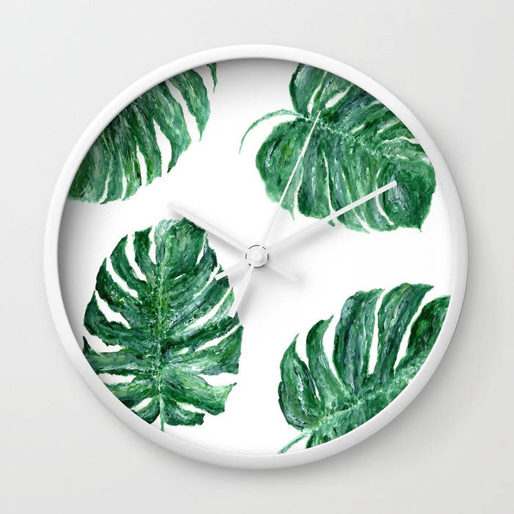 Tropical Wall Clock Plant Lover Christmas Gift