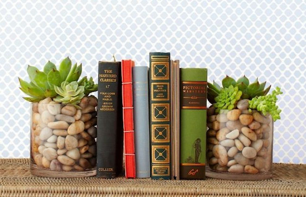 Houseplant Decor Bookend