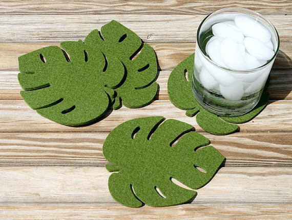 Leaf Coaster Set Plant Lover Christmas Gift
