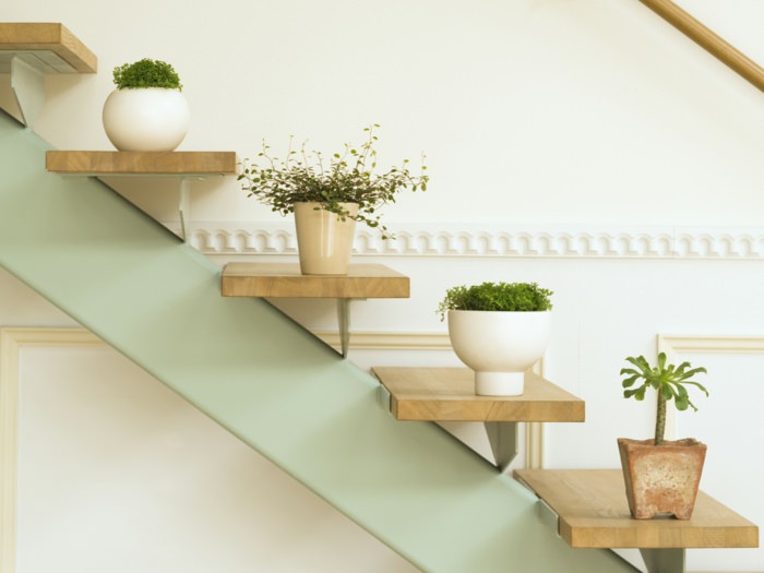 Indoor Jungle Small Space Staircase Plants Decor IDeas