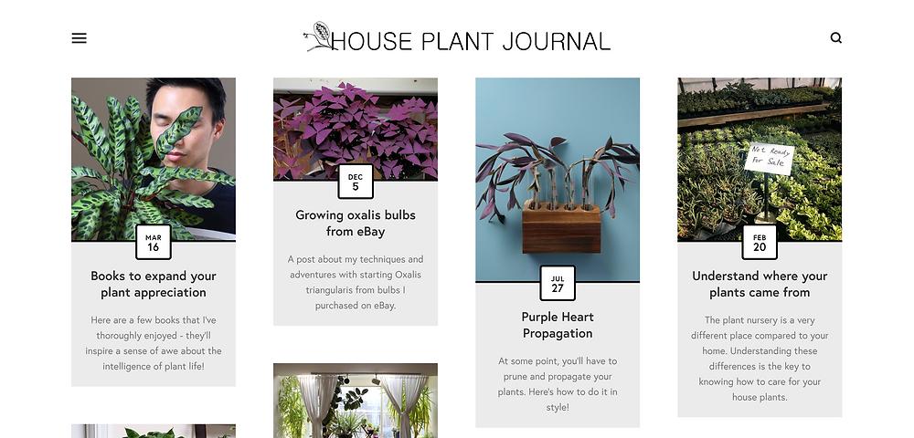 Houseplant journal