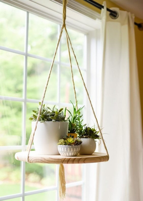 Houseplants Decor Floating Hanging Shelf