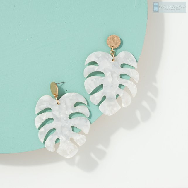 Monstera Leaf Earrings Plant Lover Christmas Gift