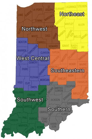 Indiana Angus Association Regional Map