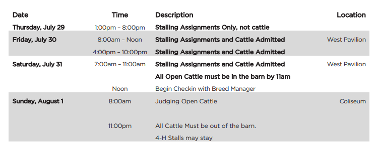 2021 Indiana State Fair Information