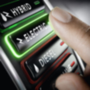 Finger pressing a push button to select