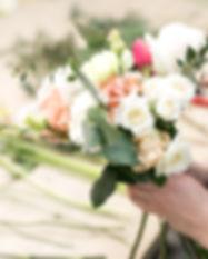 Workshop florist, making bouquets and fl