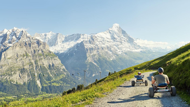 First-Mountaincart-Panorama-Eiger-Wetter