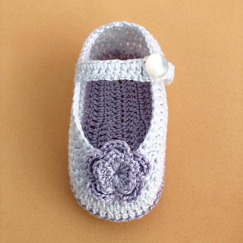Zapatos bebé 0-3m - TULIPÁN AZUL