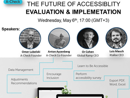 Second A-check webinar- The Future of Accessibility Evaluation & Implementation