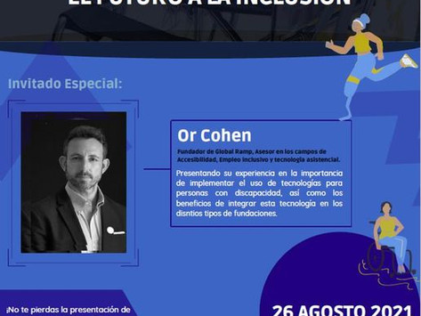 """Or Cohen is the keynote speaker at """"The Future of Inclusion"""" event 26.8.21"""
