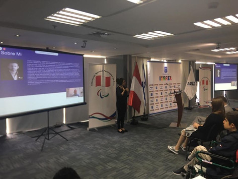 Global Ramp presnting at the PanAmerican games side event, held in Lima, Peru (22.8.2019)