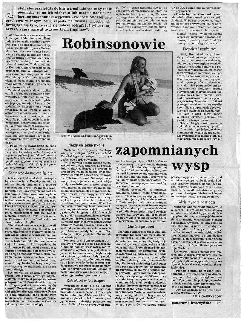 Robinsonowie Zapomnianych Wysp, Panorama Leszczynska, 1994, p. 17