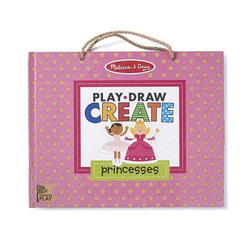 Natural Play: Play, Draw, Create Reusable Drawing & Magnet Kit - Princesses