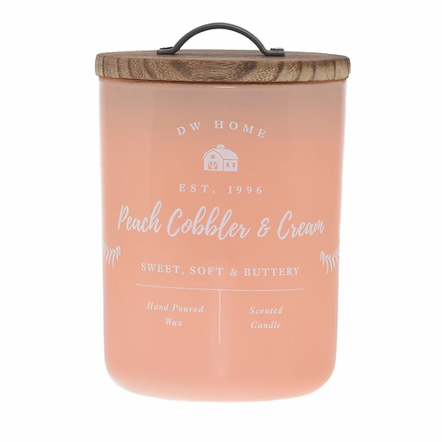 DW Home Candle - Peach Cobbler & Cream Large