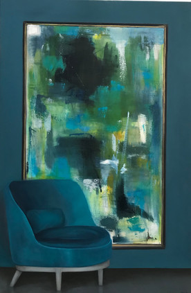 Blue abstract (Sold)
