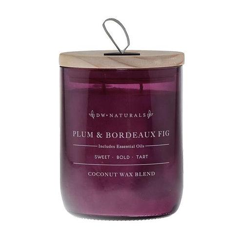 DW Home Candle - Plum & Bordeaux Fig Lg