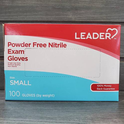 Leader Nitrile Exam Gloves Small