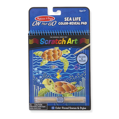 On the Go Scratch Art Color Reveal Pad - Sea Life