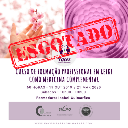 1ª edição - Curso de Formação Profissional em Reiki como Medicina Complementar - 4 níveis - 60 horas