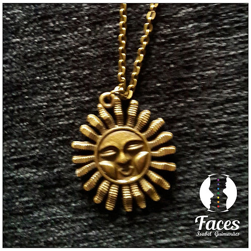 Colar Bronze Sol