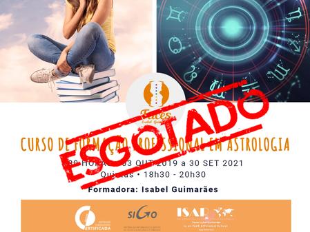 9ª edição do Curso de Formação Profissional em Astrologia - 180 horas - Presencial de 3/10/2019 a 30