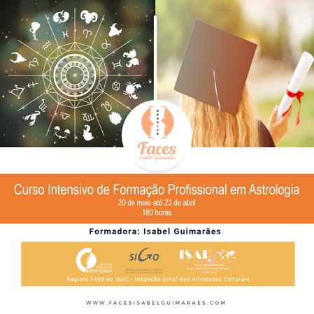 Curso Intensivo de Formação Profissional em Astrologia -  On-line - 180h - Certificado