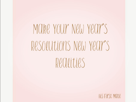 Don't Just Make a New Year's Resolution, Make a New Year's Plan