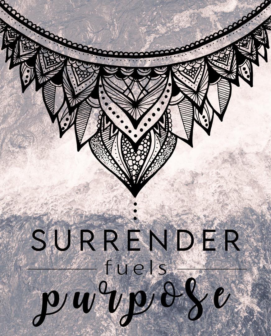 Surrender Fuels Purpose Social Media Graphic