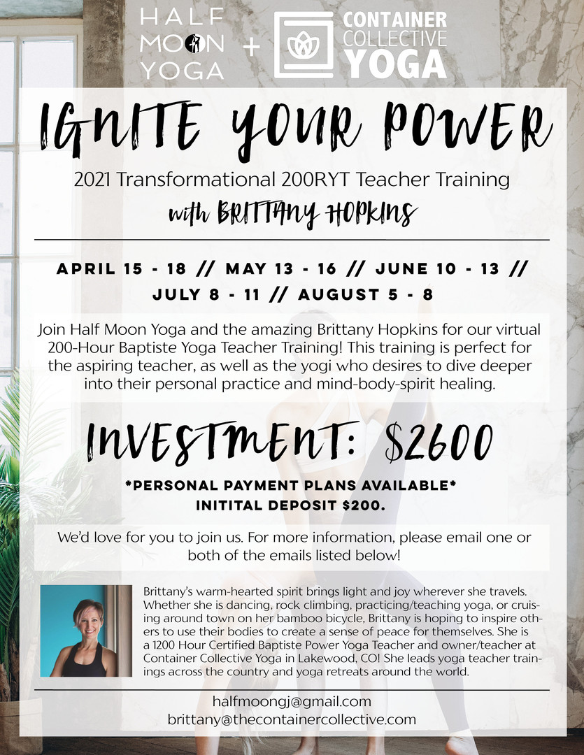 200 Hour Yoga Teacher Training Flyer