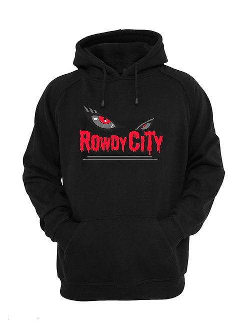 Rowdy City Hoodie (Black and Red)